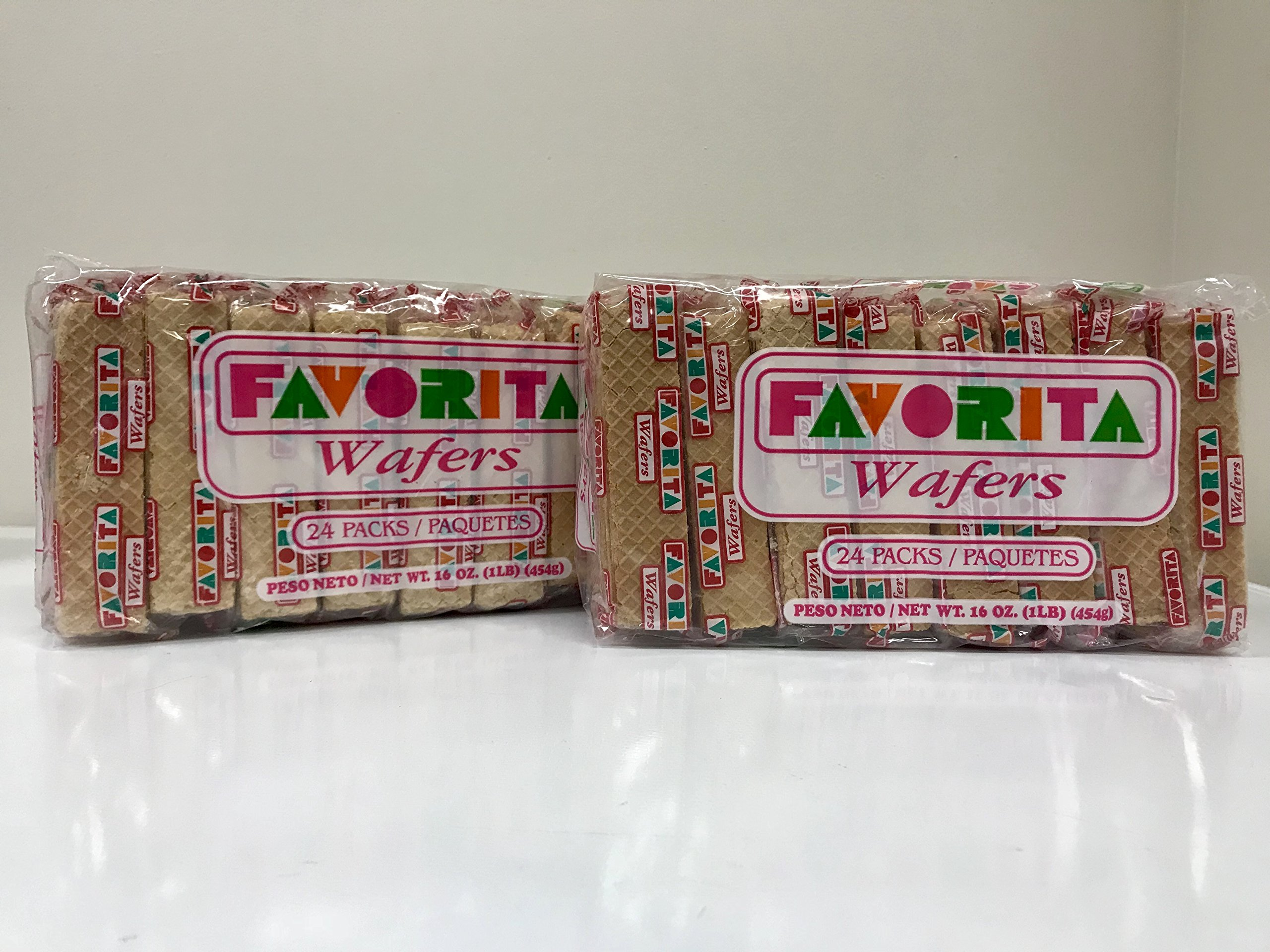 Favorita Wafers (Galletas Favorita) Puerto Rico's beloved wafer cookie - 16 oz (Count of 2)