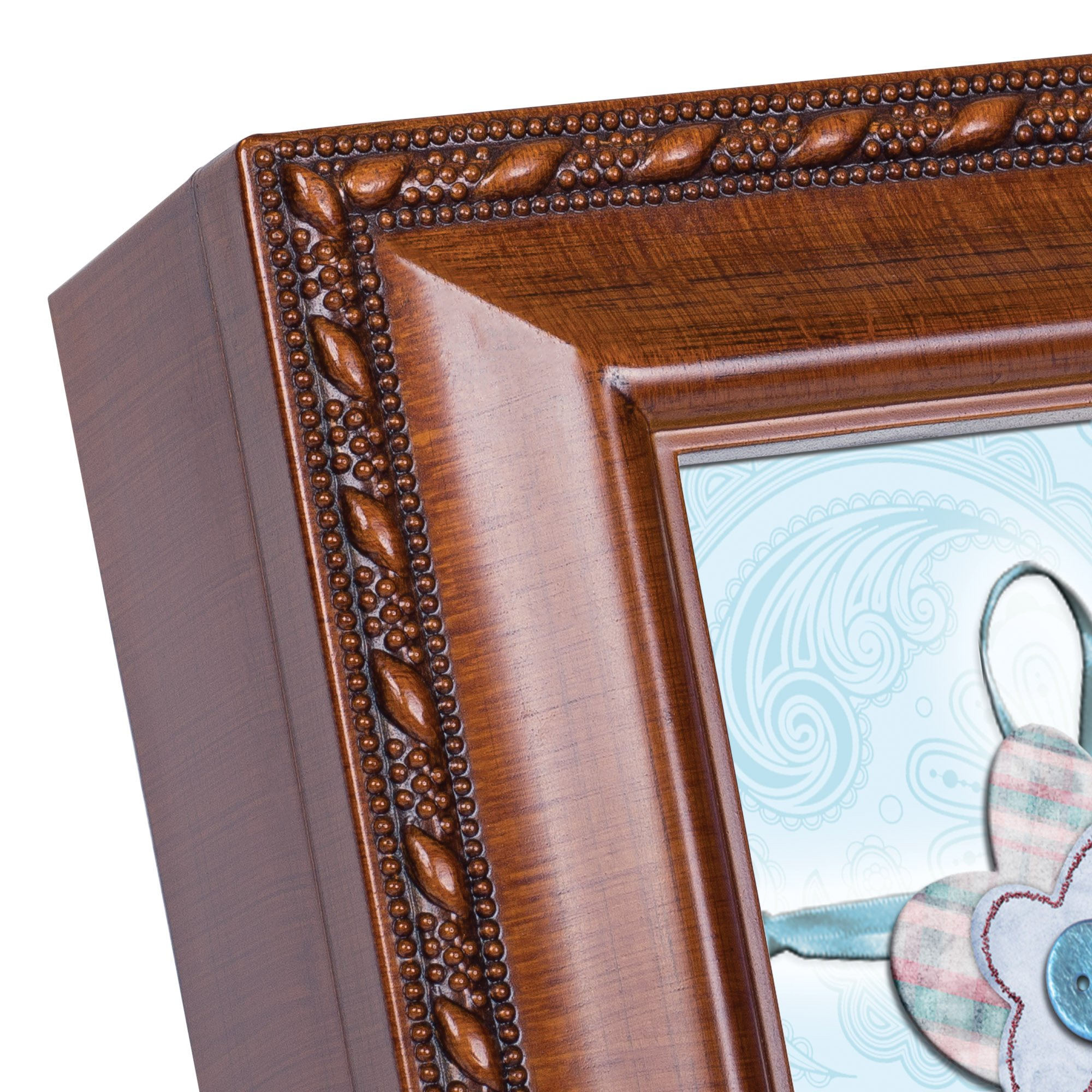 Cottage Garden Baptized In The Name Woodgrain Music Box/Jewelry Box Plays Jesus Loves Me by Cottage Garden (Image #3)