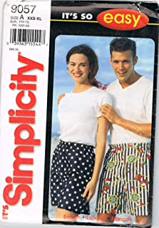 product image for Simplicity Pattern 9057 Misses', Men's, Teen-Boys' and Girls' Shorts, Size A (XXS-XL)