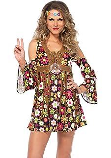 f56857f5d0 Amazon.com  UHC Women s Hippie Starflower 60s 70s Floral Dress ...