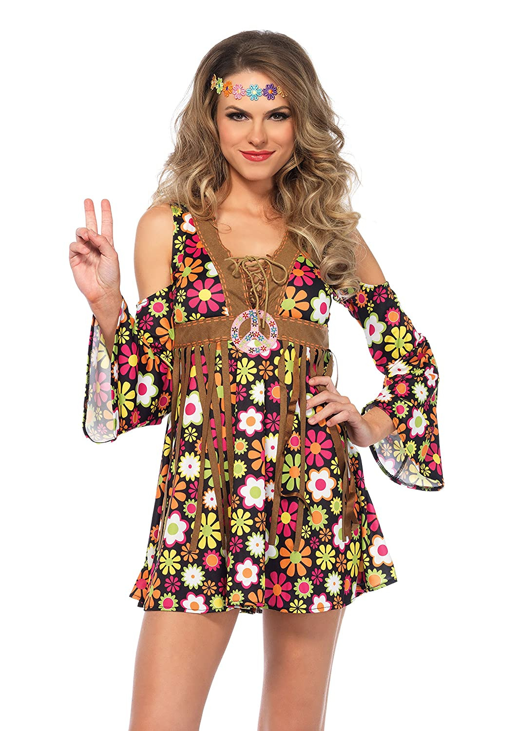 1960s Mad Men Dresses and Clothing Styles Leg Avenue Womens Starflower Hippie Costume $24.89 AT vintagedancer.com