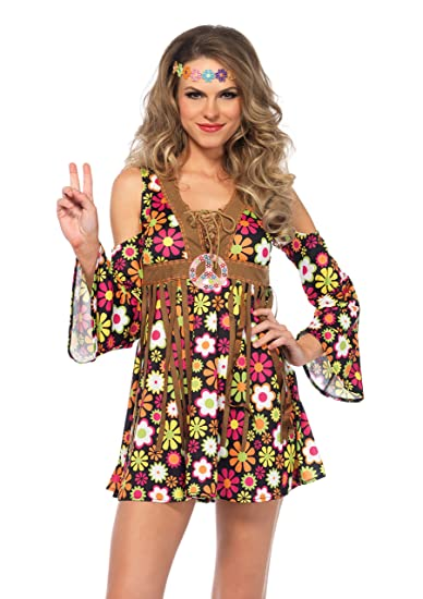 60s Costumes: Hippie, Go Go Dancer, Flower Child Leg Avenue Womens Starflower Hippie Costume $31.95 AT vintagedancer.com
