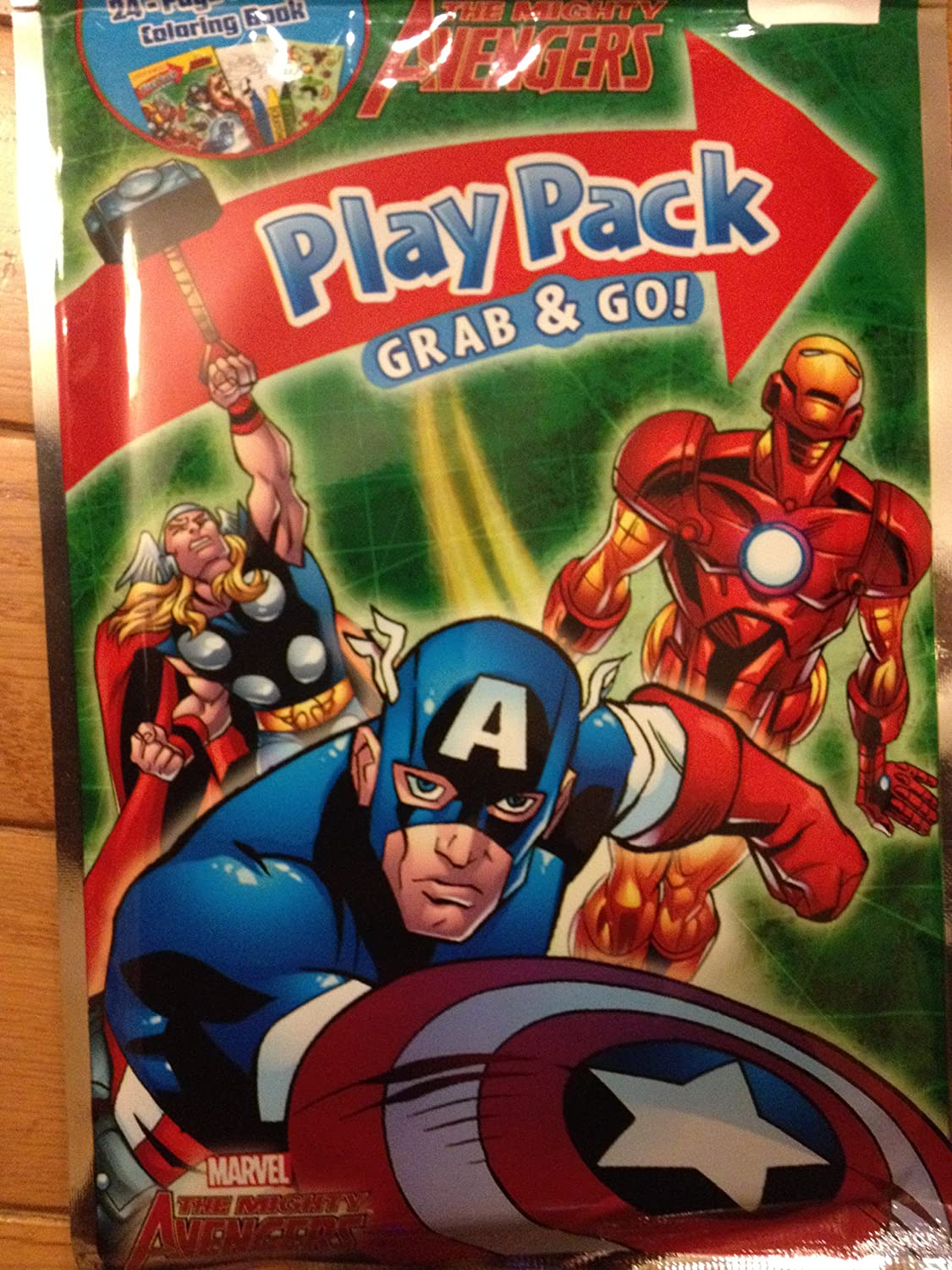 The Mighty Avengers Grab /& Go Play Pack 2 Sets Captain America Iron Man Thor
