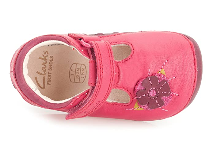 Clarks Girls Pre-School Little Poppy Leather Shoes In Berry Standard Fit  Size 2.5: Amazon.co.uk: Shoes & Bags