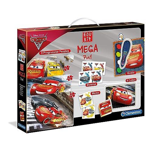 Clementoni - 11942-Edukit Mega 7 en 1 - Cars 3-Jeu éducatif