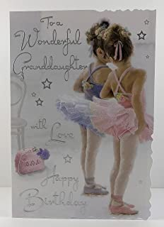 Home, Furniture & DIY Illustrated insert PERSONALISED BALLET POINTE DANCE BIRTHDAY ANY OCCASION CARD