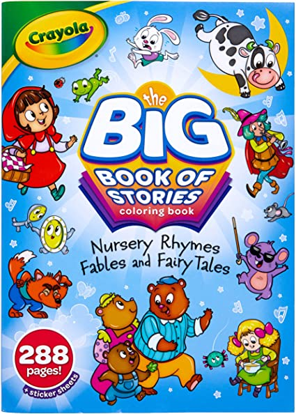 Amazon.com: Crayola Coloring Book Set, Big Book Of Stories, 288 Coloring  Pages, Gift For Kids, Age 3, 4, 5, 6: Toys & Games