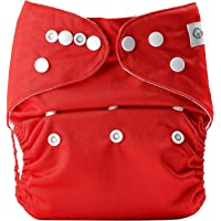 Bumberry Pocket Diaper (Deep Red) and 1 Microfiber Insert