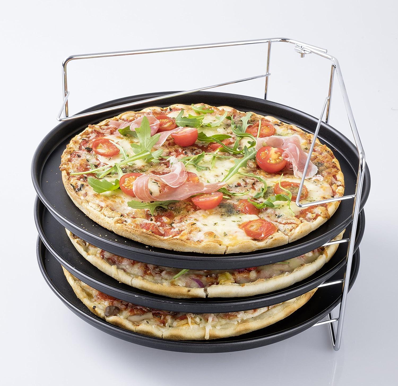 Zenker 3775 - Juego de teflon para pizza (4 piezas): Amazon.es: Hogar