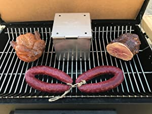 DKS Smoker Cooker Box for Grill   Turn Any BBQ Grill Into A Smoker   No Propane or Charcoal Needed   Provides All The Heat and Smoke to Cook Any Food (216 cu inches)