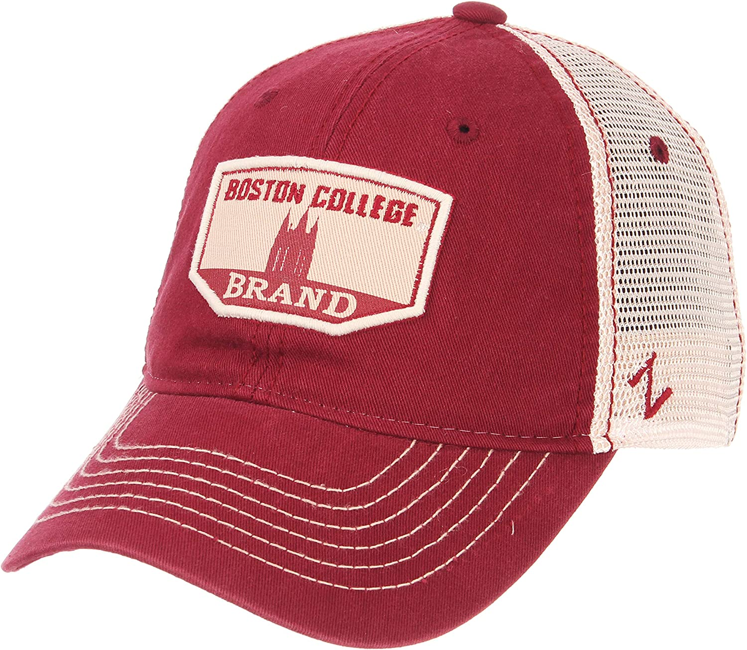 Washed Team//White NCAA Zephyr Boston College Eagles mens Trademark Relaxed Hat Adjustable