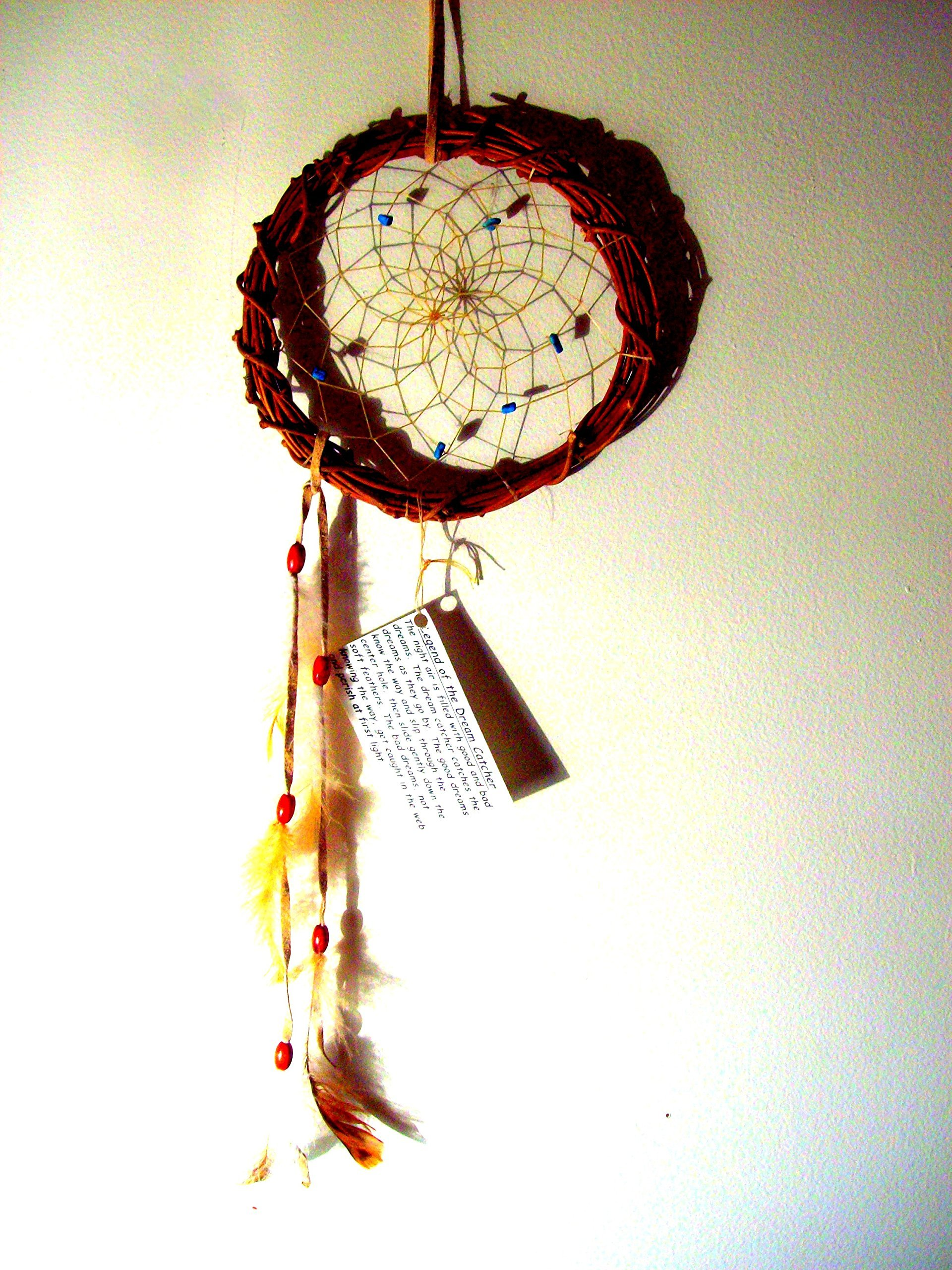 NATIVE MADE DREAMCATCHER with Turquoise, Dream catcher, Medium size wallhanging dreamcatcher, Native American, Boho, southwest art,