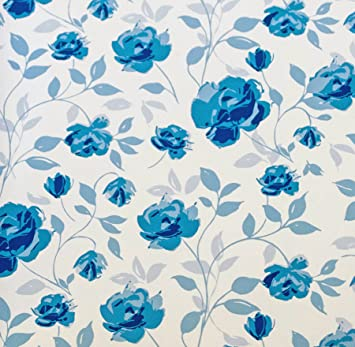 Wedgewood White On Blue Flowers Floral Suttons Printed Patterned Tissue Wrapping Paper Luxury 5 Sheets