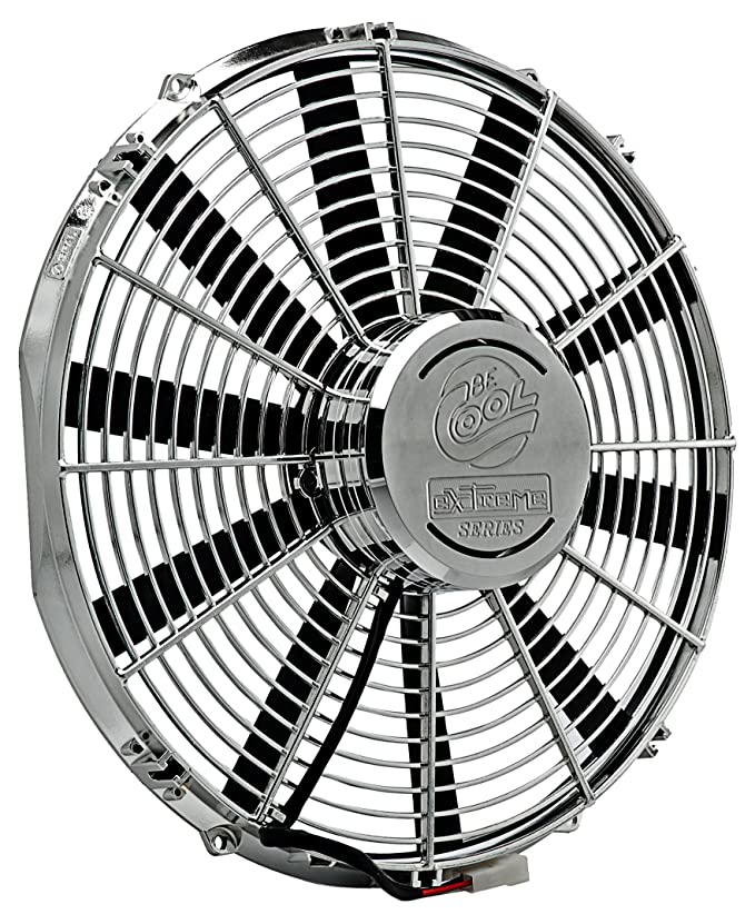 Amazon Com Be Cool 75502 Extreme 16 Chrome Pusher Fan With Billet