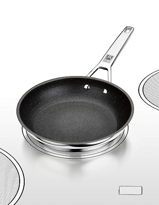 BRA Connect - Sartén 24 cm, aluminio fundido con antiadherente Profile y tecnología Bi-Clad, apta para todo tipo de cocinas incluida inducción, libre ...