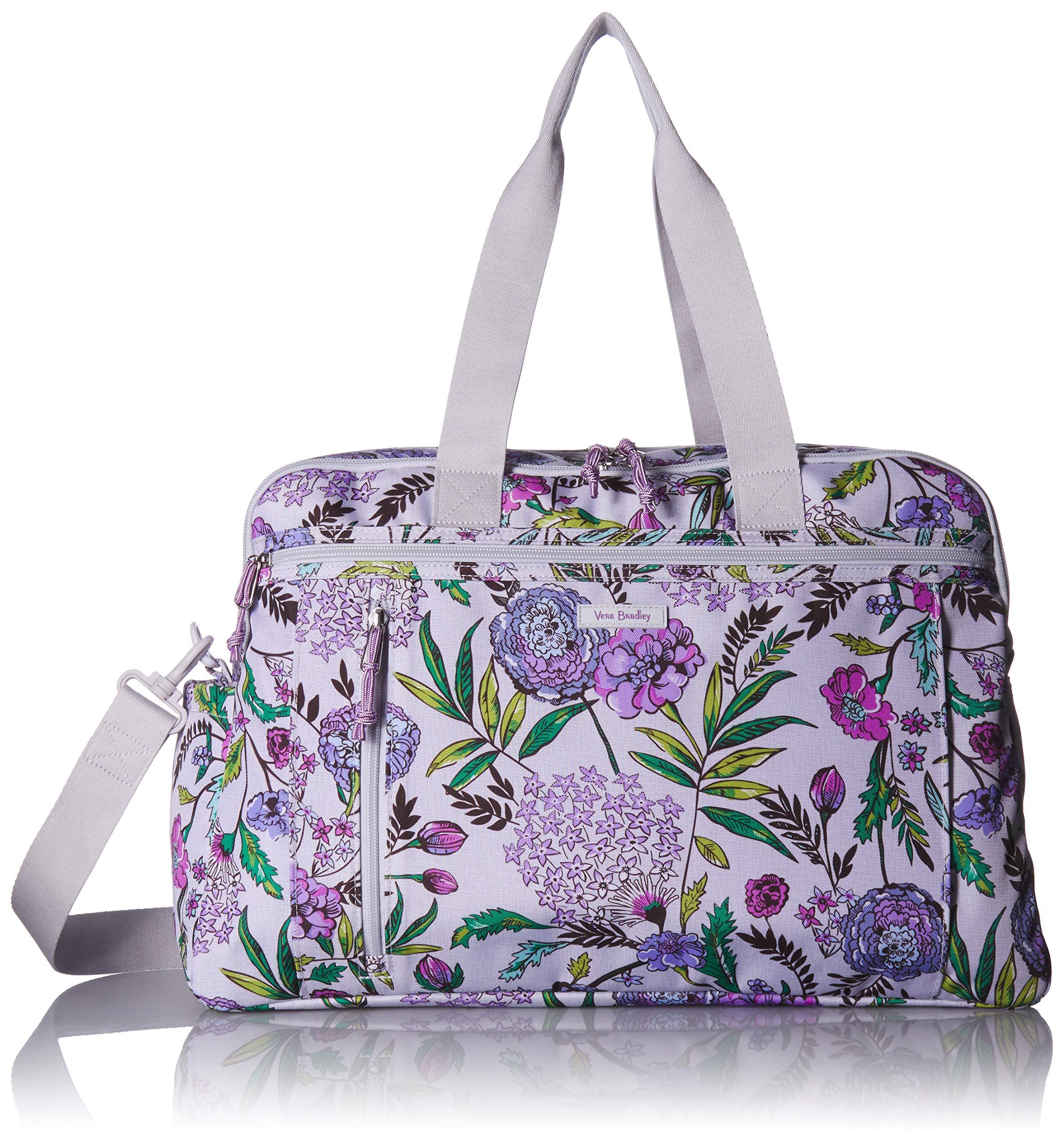 Vera Bradley Lighten Up Weekender Travel Bag, Lavender Botanical