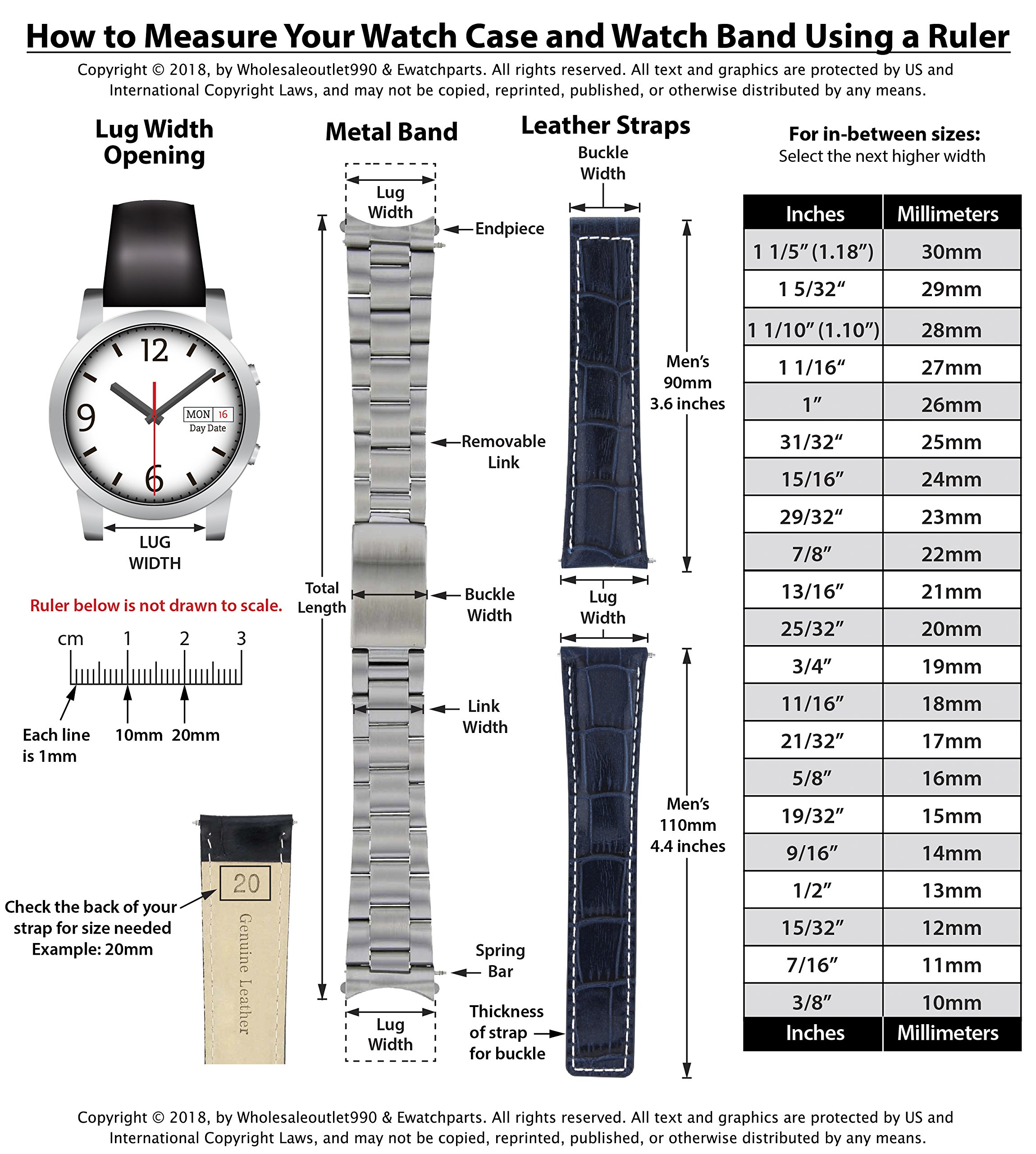 20MM Oyster Band for 40MM Rolex Explorer II 2 16570 FIT Fat Spring BAR FLIP Lock by Ewatchparts (Image #8)