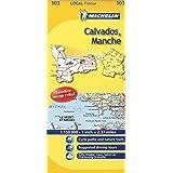 Calvados, Manche Michelin Local Map 303 (Michelin Local Maps)