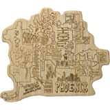 Totally Bamboo City Life Serving Board, Phoenix, 100% Bamboo Board for Serving and Entertaining