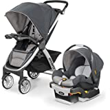 Chicco Bravo Trio Travel System with Full Size Stroller, Convertible Frame Stroller, One-Hand Compact Fold, Extendable…