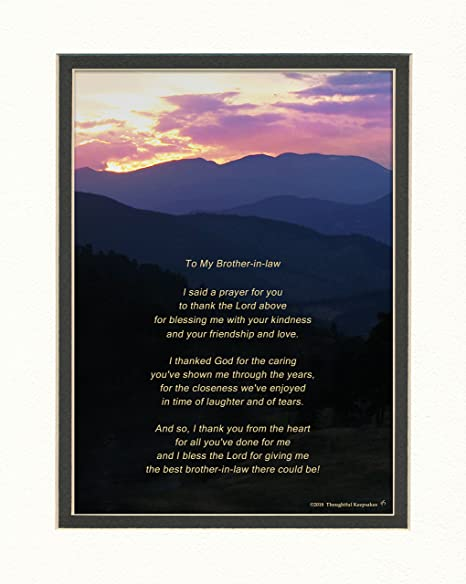 Amazon Com Brother In Law Gift With Thank You Prayer For Best