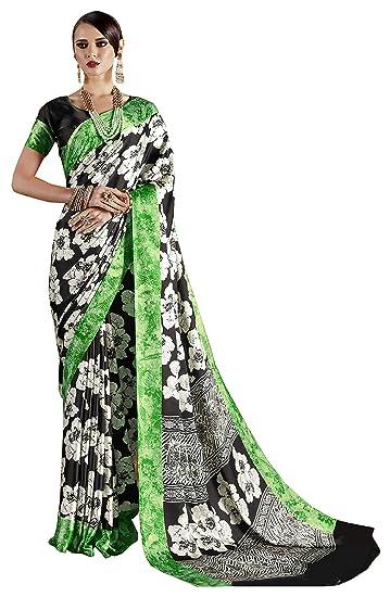 b5187ab8e7 Sareeshop Georgette Saree With Blouse Piece(Rajtex70018_Multicolor_Free  Size): Amazon.in: Clothing & Accessories
