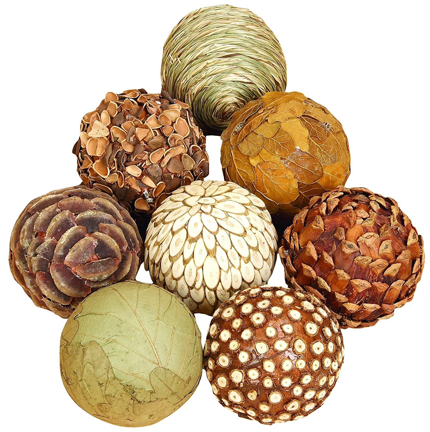 Natural Bamboo Wood Balls Set of 8