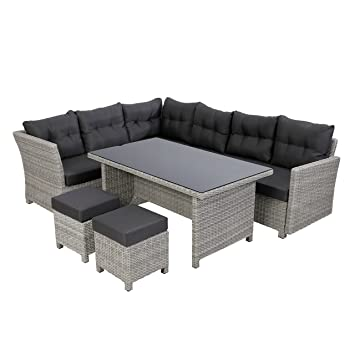 Amazon.de: greemotion Rattan Lounge-Set Toscana, 5-teilig ...