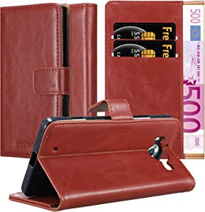Cadorabo Book Case Compatible with Nokia Lumia 950 in Wine RED - with Magnetic Closure, Stand Function and Card Slot - Wallet Etui Cover Pouch PU Leather Flip
