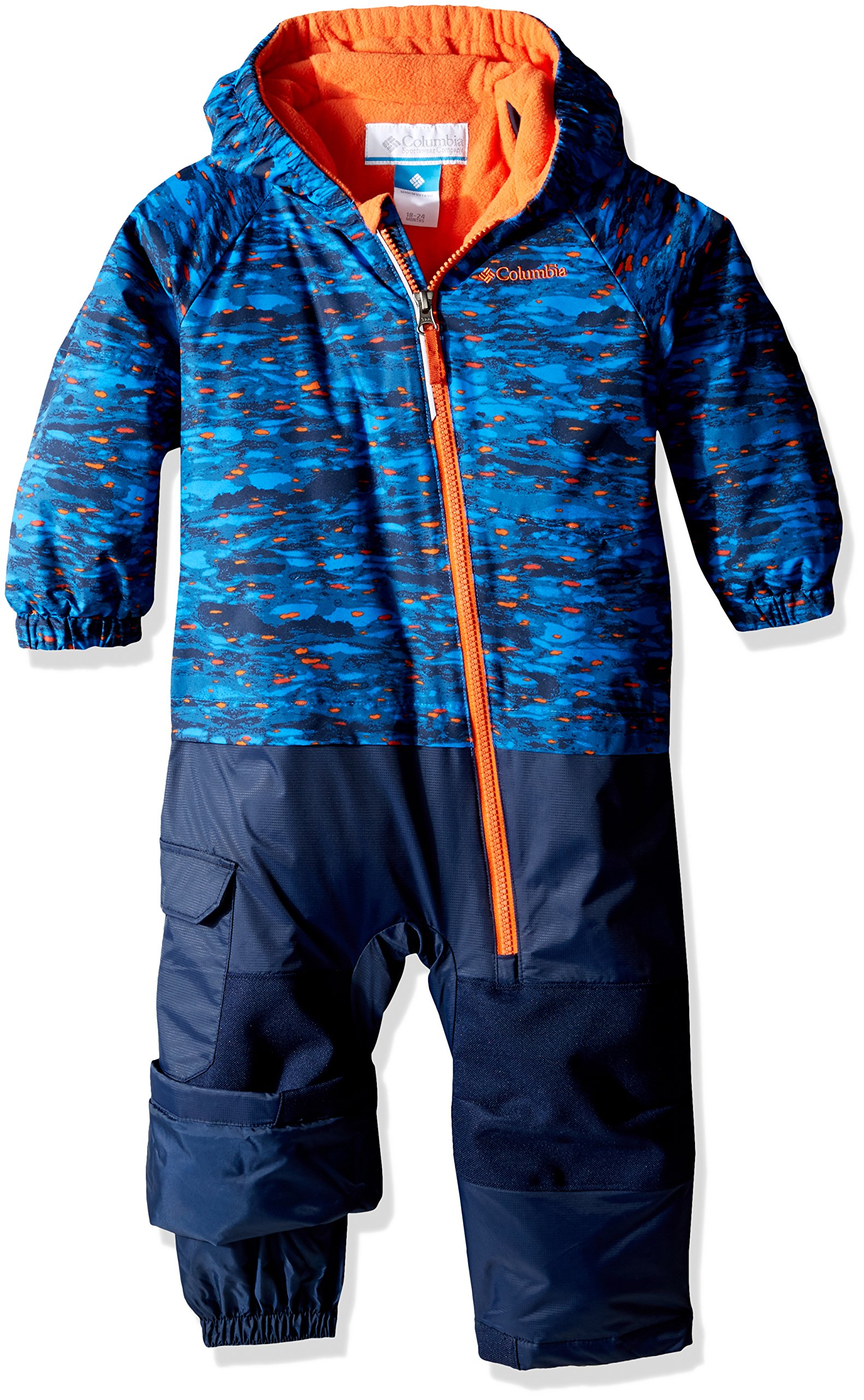 Columbia Baby Little Dude Suit, Super Blue Print, 6-12 Months