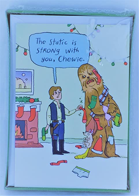 Amazon 18 star wars han solo chewie hallmark funny zone 18 star wars han solo chewie hallmark funny zone holiday christmas greeting cards boxed set m4hsunfo