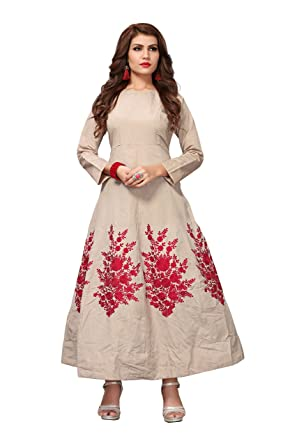 fa8347d8624e Royal Export Women s A-Line Knee-Long Dress (white gown Beige Free) (white  gown Beige Free)  Amazon.in  Clothing   Accessories