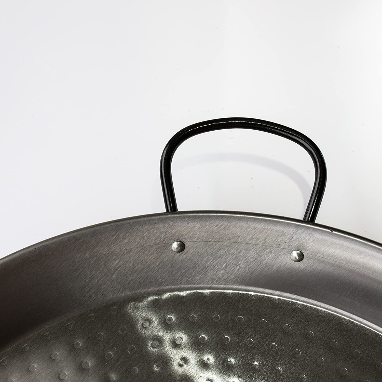 Argento Carbonio VAELLO Paellera Ferro martellato cm46 Pentole e Preparazione Cucina