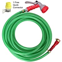 """Dripit™ Braided Garden Hose Pipe (1/2"""" Inch x 20 Meters) with 7-Pattern Rotating Nozzle Spray Gun, with Settings for a Wide Range of uses from Watering Your Plants to Cleaning Your Pets or Car Wash."""