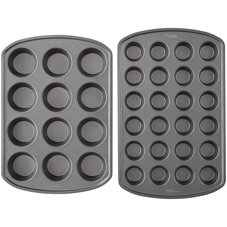 Wilton Perfect Results Premium Non-Stick Mini and Standard Muffin Pan Set, 2-Piece