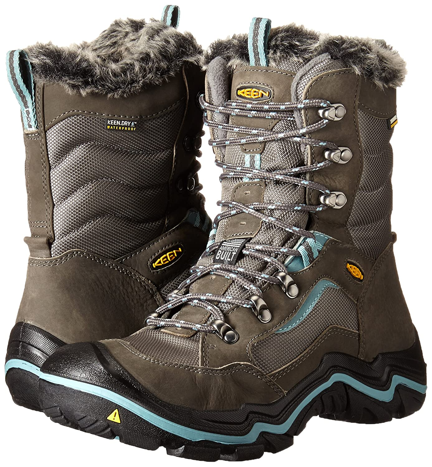 KEEN Women's Durand Polar Winter Boot B00RKJYE4W 7.5 B(M) US|Magnet/Mineral Blue