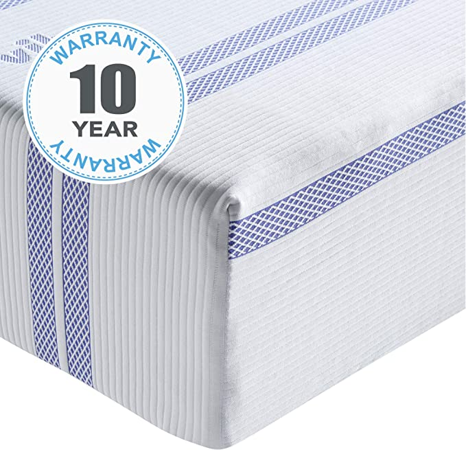 Gel Memory Foam Medium Firm Mattress for Side Sleepers