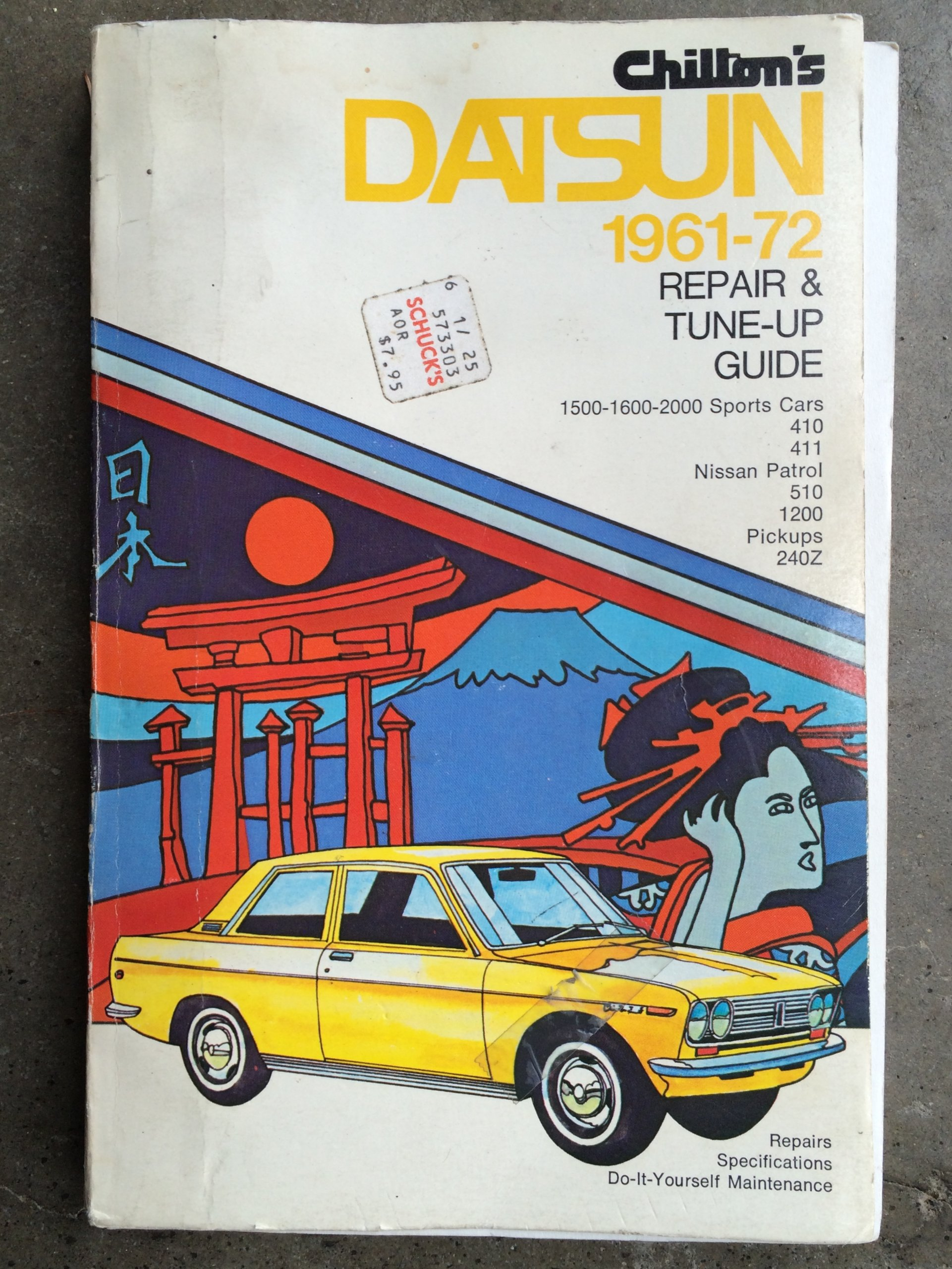 Chilton's Repair and Tune-Up Guide - Datsun 1961 to 1972: 1500-1600-2000  Sports Cars, 410, 411, Nissan Patrol, 510, 1200, Pickups, 240Z: Chilton  Book ...