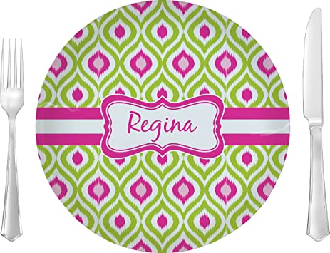 Ogee Ikat Dinner Plate (Personalized)  sc 1 st  Amazon.com & Amazon.com | Ogee Ikat Dinner Plate (Personalized): Dinner Plates