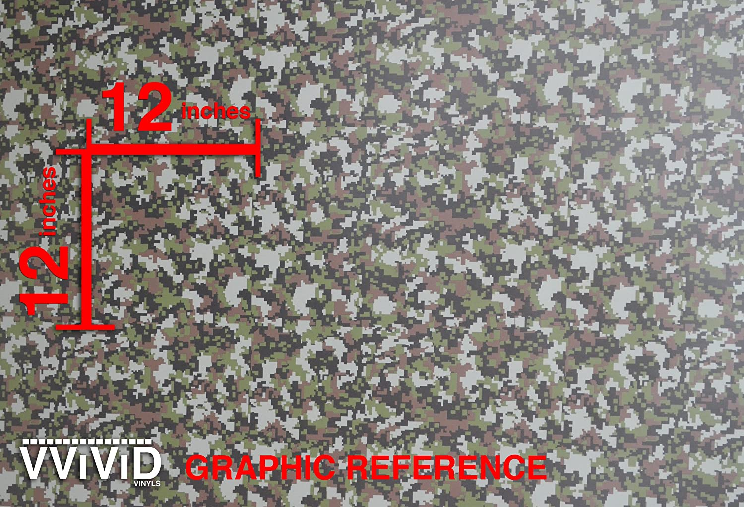 VViViD Vinyl Camouflage Pattern Wrap Air-Release Adhesive Film Sheets 1ft x 5ft, Digital Camo