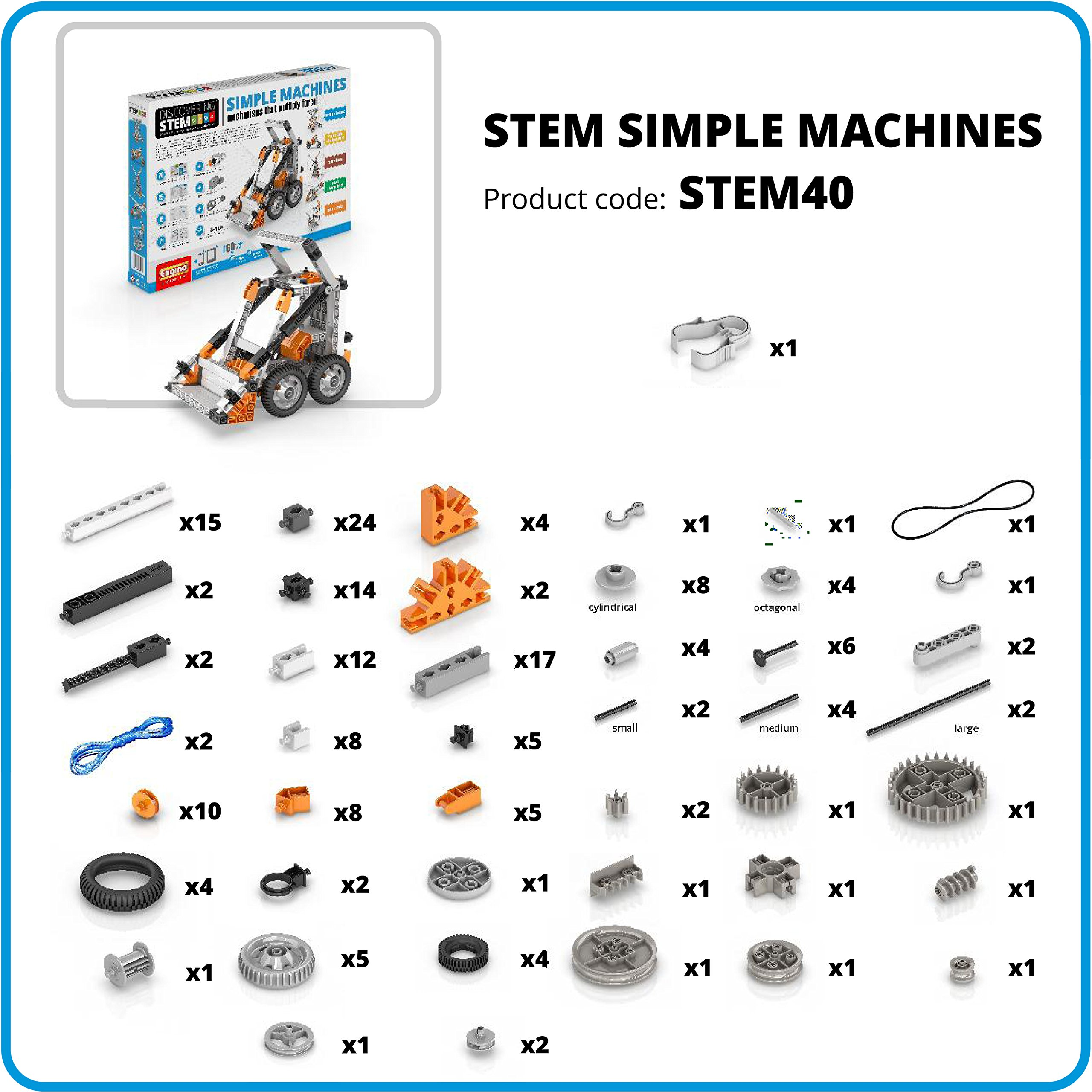 Engino Discovering STEM Simple Machines Mechanisms That Multiply Force Construction Kit by Engino (Image #1)