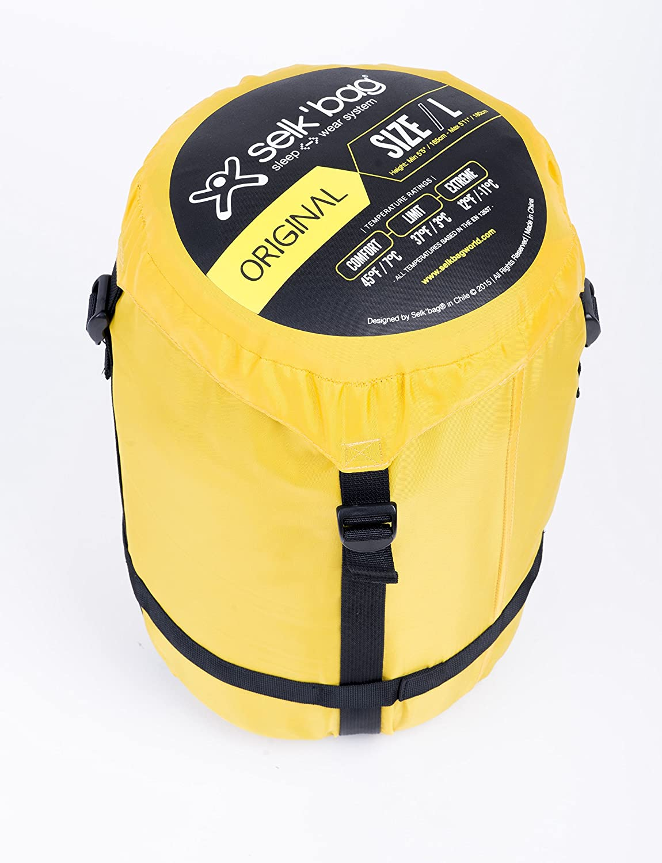 SELKBAG Saco de dormir Modelo 5G ORIGINAL Color Amarillo,Talla XL: Amazon.es: Deportes y aire libre