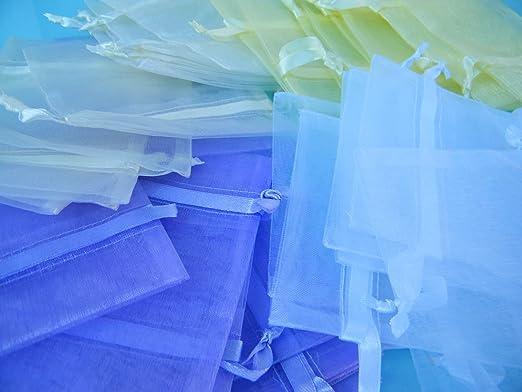 Bolsas de Organza 10 x 12 cm) Primrose amarillo, paquete de ...