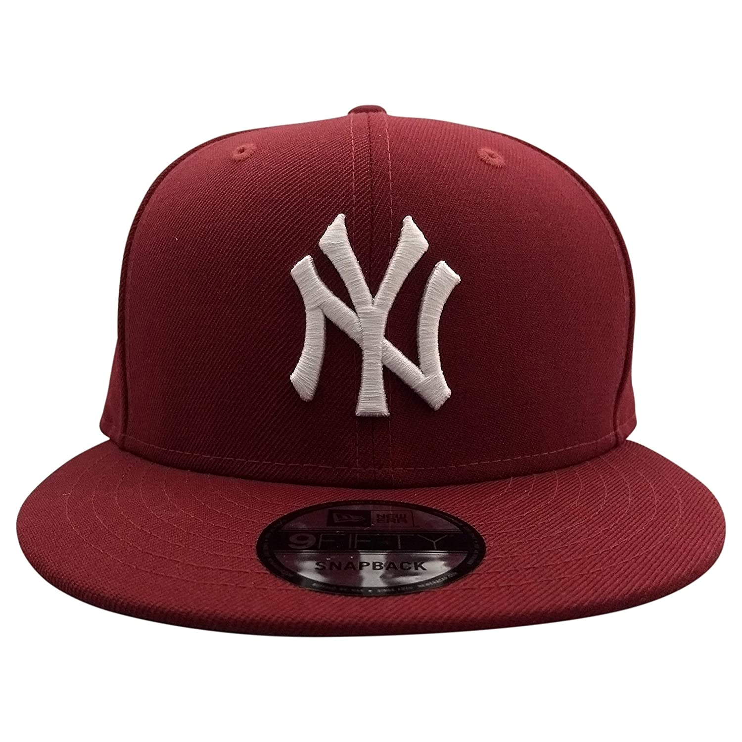 e0a8aeeb434 Amazon.com  New Era New York Yankees MLB Maroon 9FIFTY Snapback Cap   Clothing