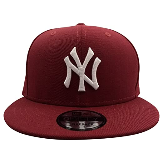 258650c0 Image Unavailable. Image not available for. Color: New Era New York Yankees  MLB Maroon 9FIFTY Snapback Cap