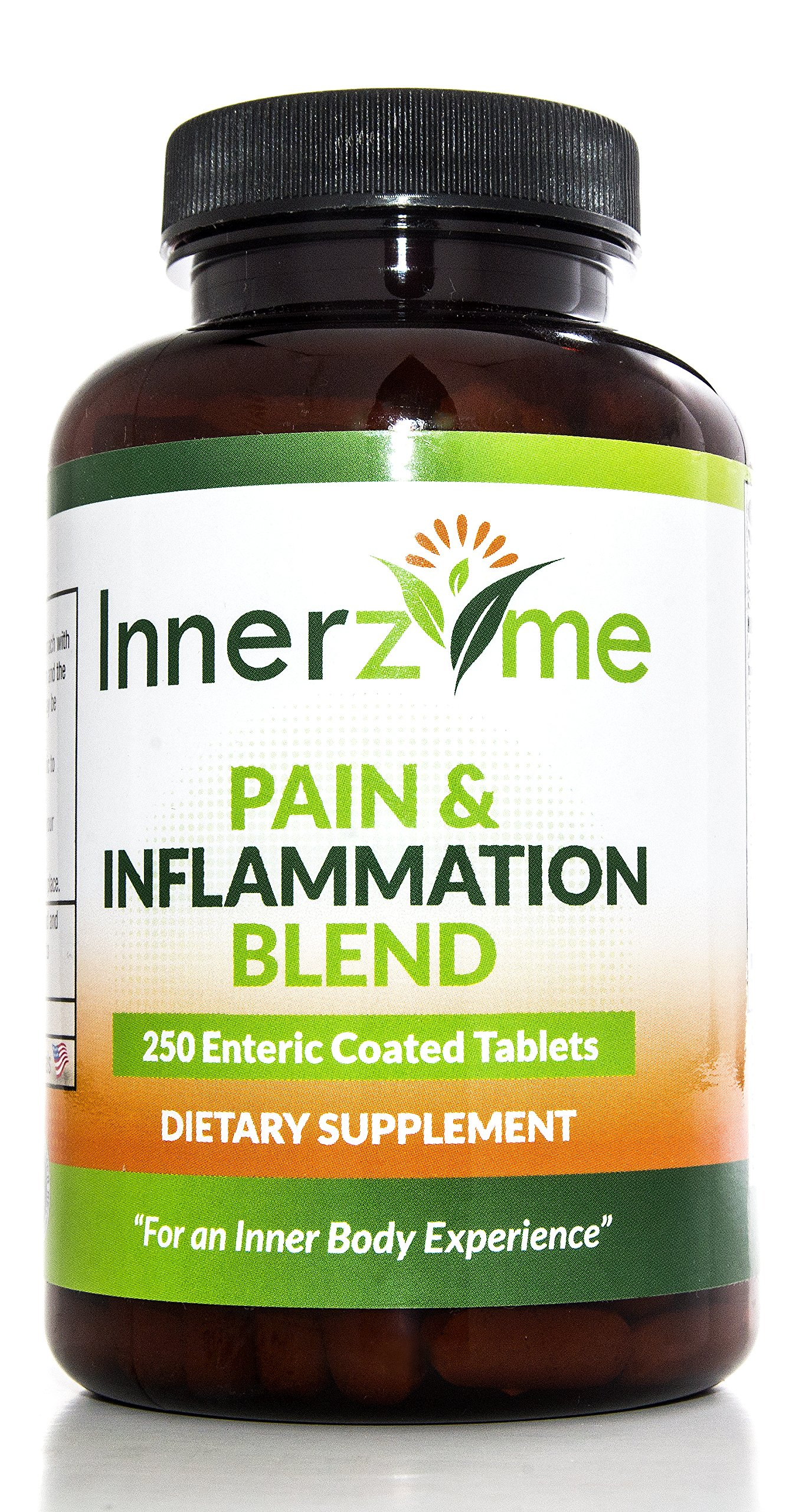 Innerzyme Pain And Inflammation Enzyme Blend Tablets, 250-Count Bottle