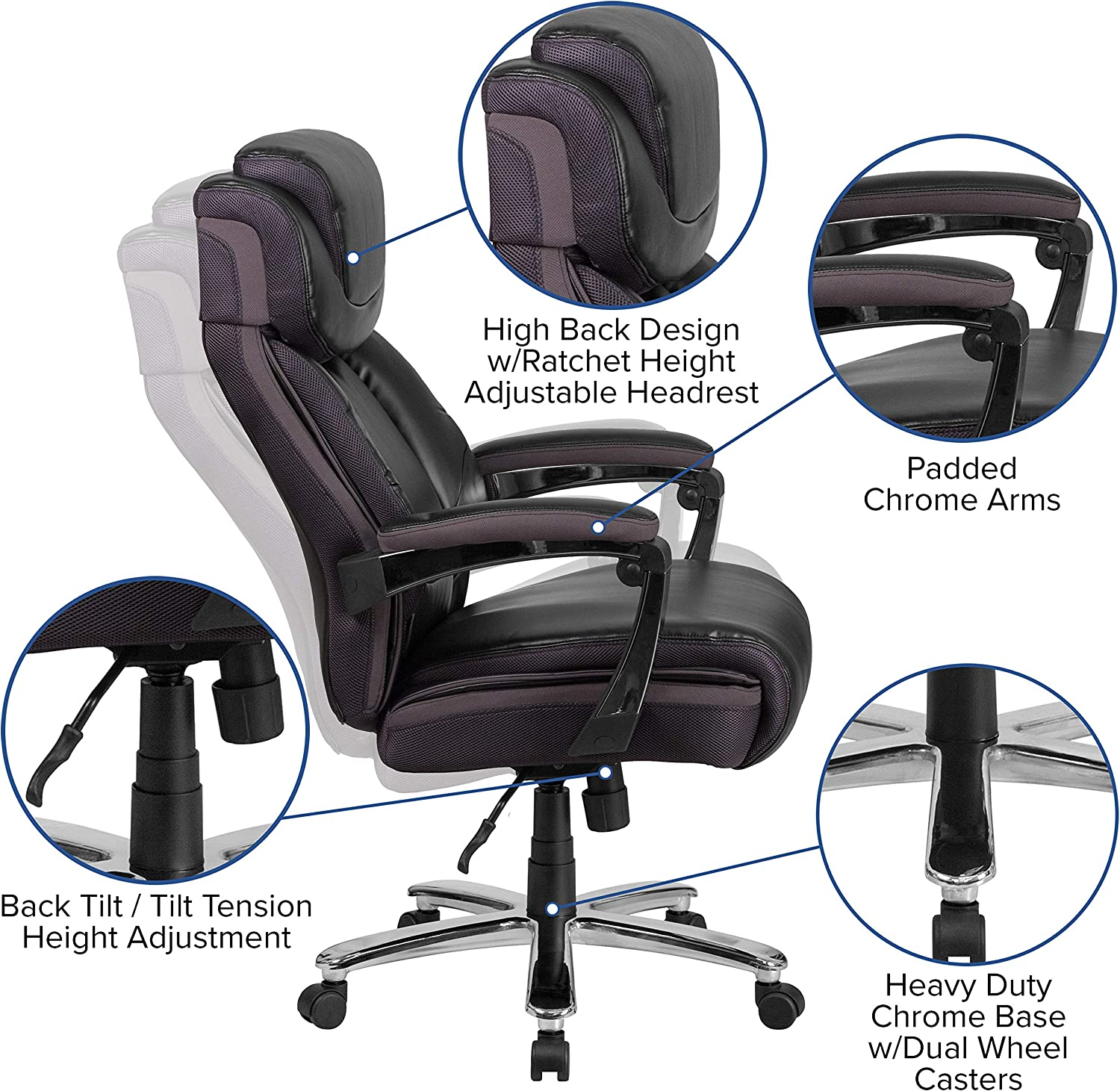 91hy5X4CCNL. AC SL1500 - What Are The Best Office Chair For Lower Back Pain Under $300 - ChairPicks