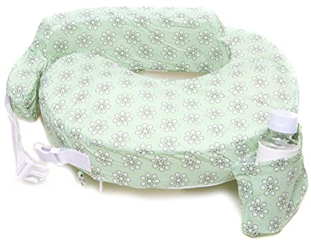 Zenoff Products Nursing Pillow, Sage Dotted Daisies, Green