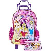 Mala Escolar G com Rodinhas, Dermiwil, Disney Princesas, 52126