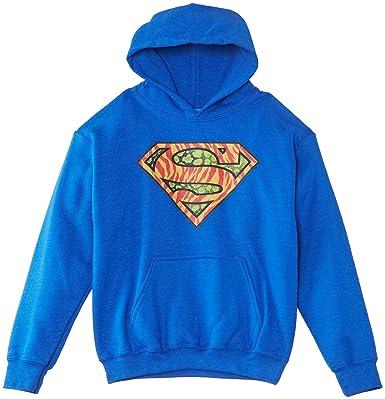Dc Comics Superman Wild Logo, Sudadera con Capucha, Niños, Azul (Royal Blue